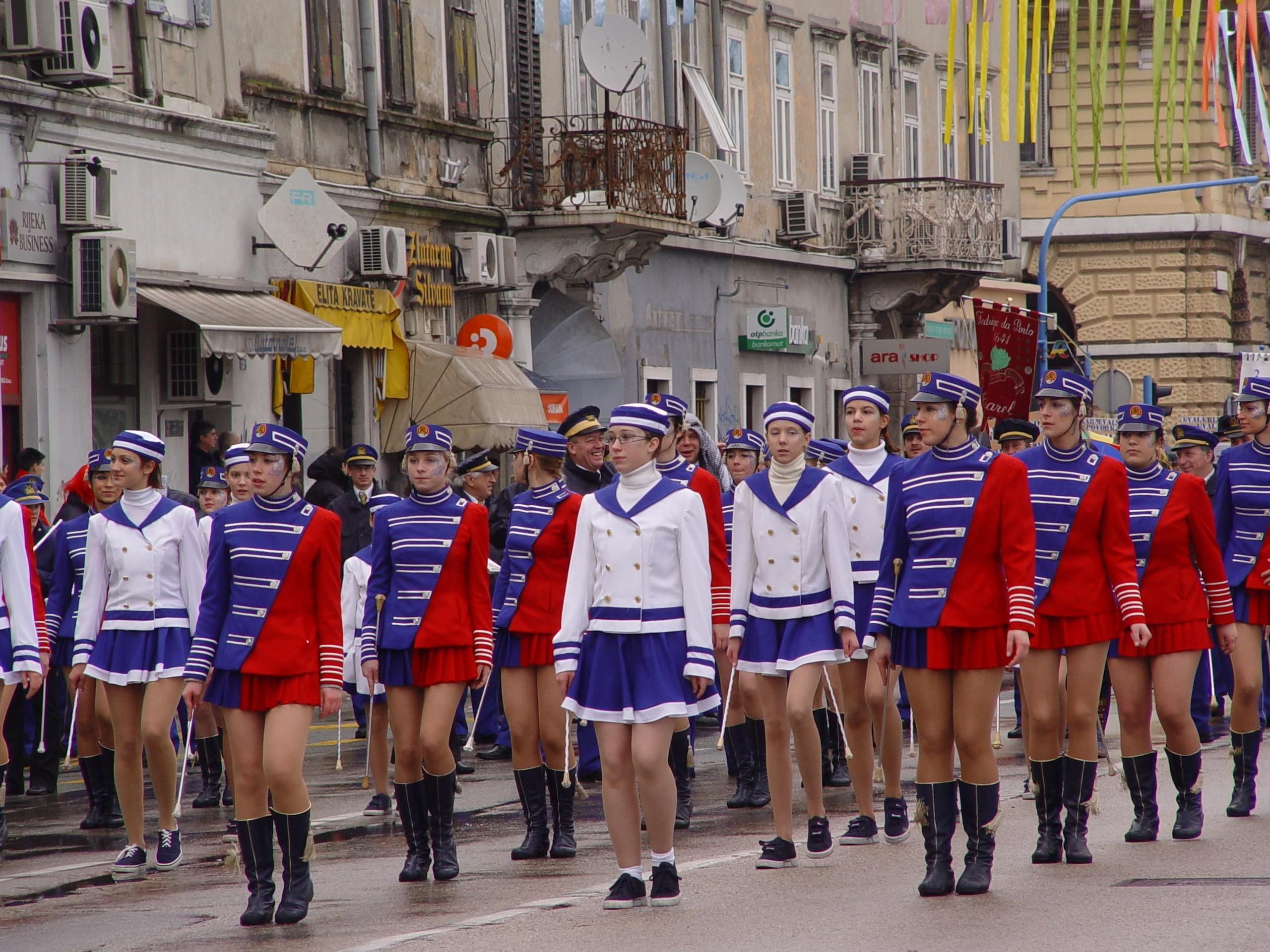 Tanzmariechen beim Karneval in Rijeka